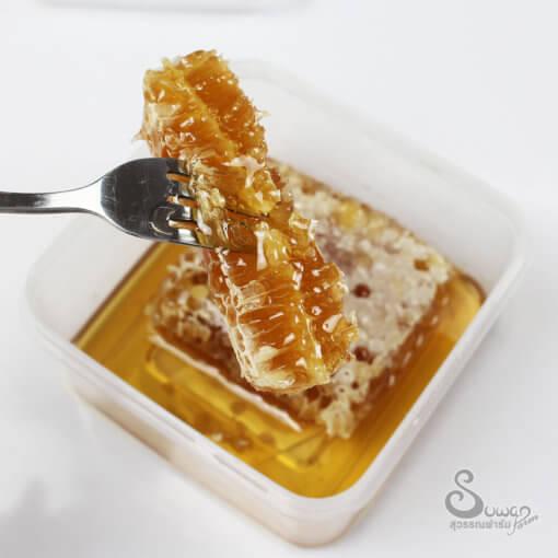 รวงผึ้งแท้ 300 กรัม จากน้ำผึ้งดอกลำไย